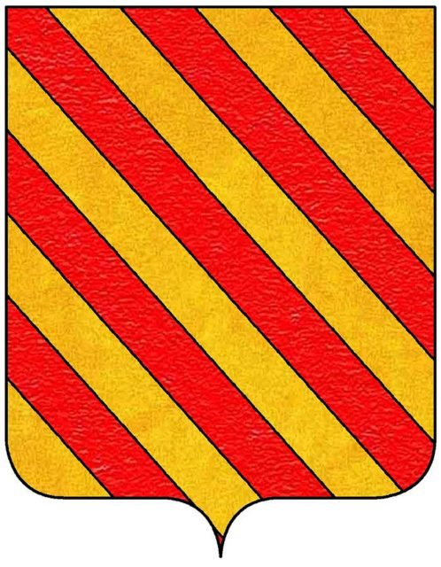Coat of arms of the Del Carretto family. Author: Massimop CC BY-SA 3.0