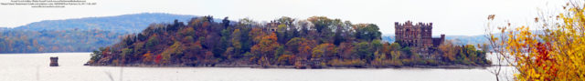 Pollepel Island, Bannerman's Castle, Hudson River close up panorama. Author: rvc845 CC BY-ND 2.0
