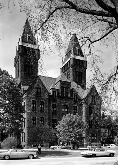 South elevation of the Administration Building in 1965.