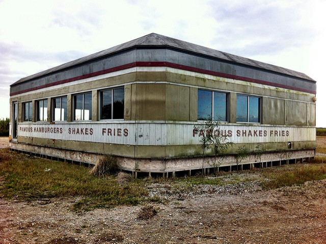 The diner from Looper. Author: breauxtography CC BY 2.0