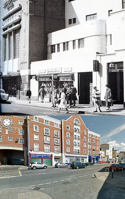 The Metropole Cinema, then and now, Ashley Road, 1913-1968.Author:brizzle born and bred CC BY-ND 2.0