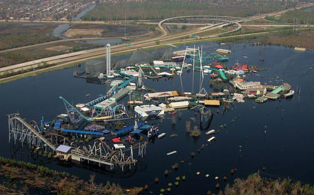 Aerial view of SFNO after Hurricane Katrina.