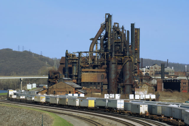 The site of the former Bethlehem Steel plant, shortly before it's demolition before the Casino construction underwent.Author:JschnalzerCC BY 2.5