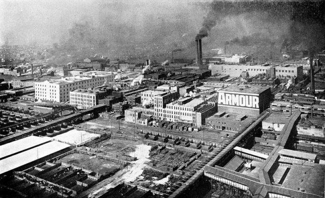 Bird's Eye view of Armour & Company. Public Domain