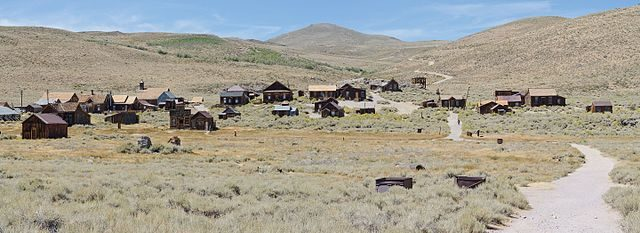 Panorama of Bodie, California nowadays – By King of Hearts – CC BY-SA 4.0