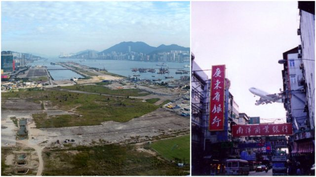 Panorama of Kai Tak Airport.Author:WiNGCC BY 3.0