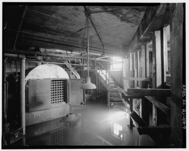 Interior view of the basement. Public Domain