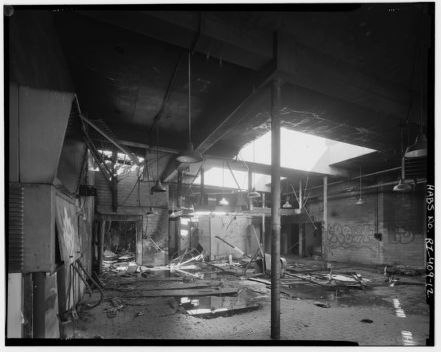 Interior view of the first floor. Public Domain
