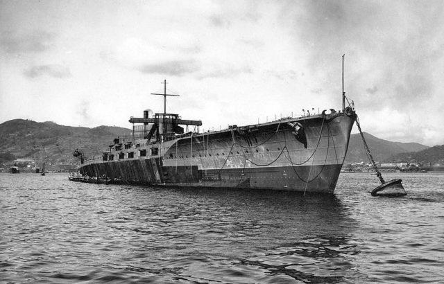 Japanese Navy battleship Tosa.