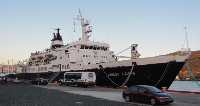 Lyubov Orlova dockside in St. John's, 2012. – By Dan Conlin – CC BY 3.0