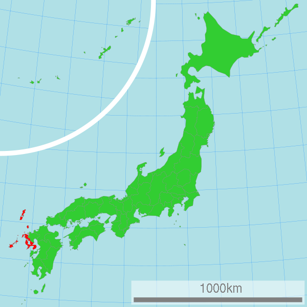 Nagasaki prefecture. Author:LincunCC BY-SA 3.0