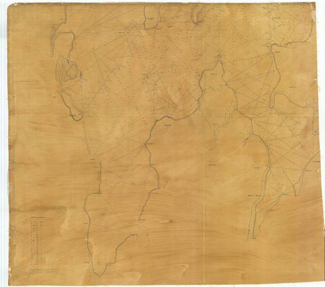 Nautical chart from 1836
