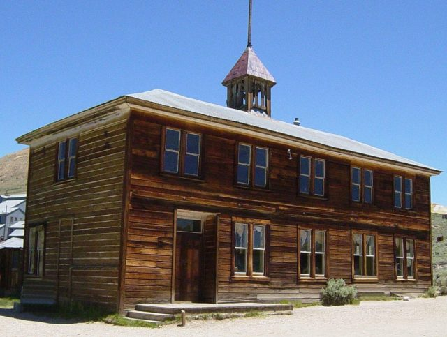 School House in Bodie, California – By Daniel Mayer – CC BY-SA 3.0