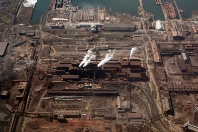 The Sparrows Point Industrial Complex, one of Bethlehem's primary steelmaking and shipbuilding plants. Author:Jeff KubinaCC BY-SA 2.0