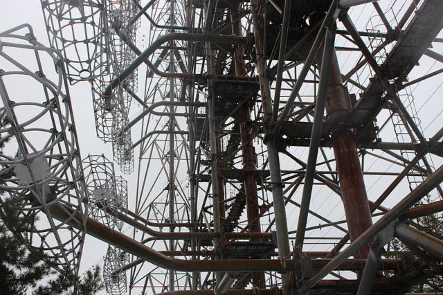 A Steel structure of the Duga radar.Author: Alexander BlecherCC BY-SA 4.0
