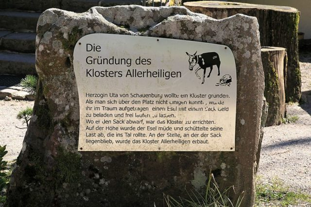 The Legend of the donkey and the sack of money. Author: Frank Vincentz CC BY-SA 3.0