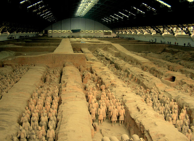 General view of the pit n°1 in the Museum of Xi'an