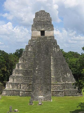 Tikal (Guatemala), Temple I. Photo credit:Raymond Ostertag, CC BY-SA 2.5