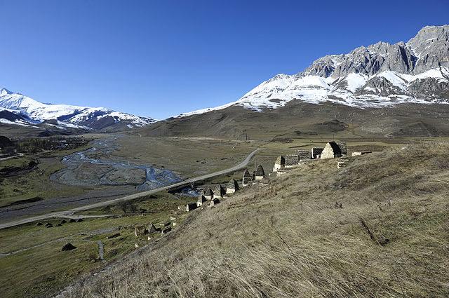 Panoramic view of Dargavs.Author:Alex SvirkinCC BY-SA 3.0