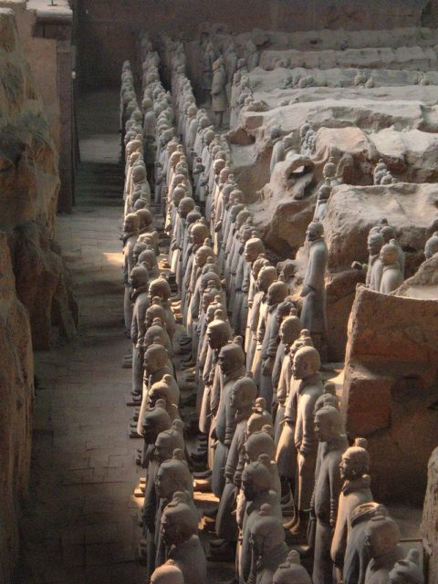 The Terracotta Warriors. BrokenSphere,CC BY-SA 3.0