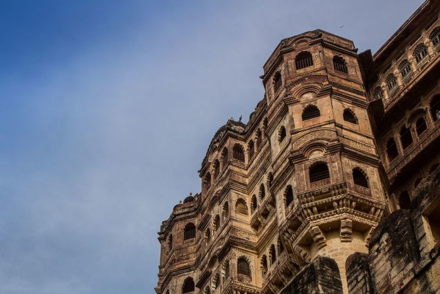 A view of the Mehrangarh Fort, Jodhpur. Photo Credit:Kronnied,CC BY-SA 4.0