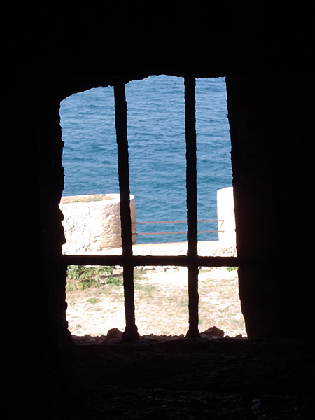 View from a cell in the Château d'If.