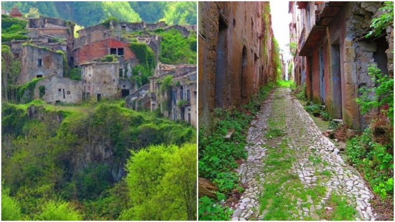 Left: On top of the ridge. Right: The empty streets. Both Photos: Gianfranco Vitolo,CC BY 2.0.