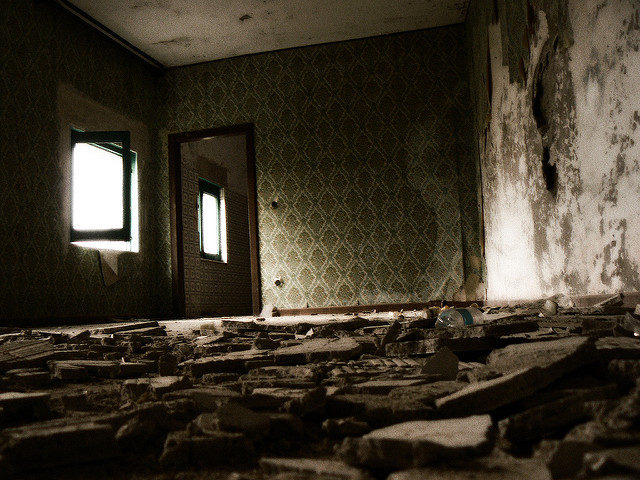 Inside one of the abandoned home. Photo Credit:Alessandro Bonvini,CC BY 2.0