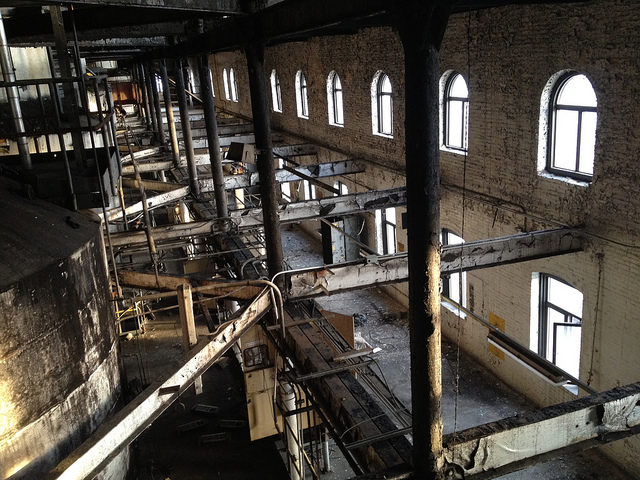 Inside the Domino Sugar Factory. Author: Jason Eppink CC BY 2.0