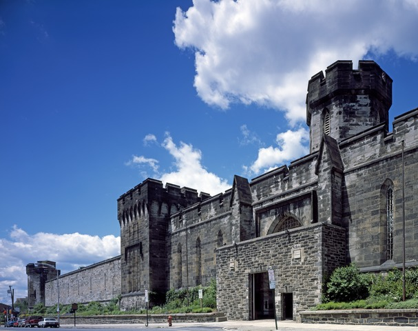 The exterior of the Eastern State Prison.