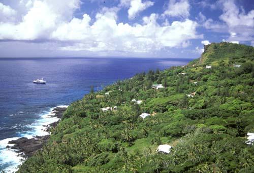 View from Pitcairn Island. Photo Credit:Angela K. Kepler