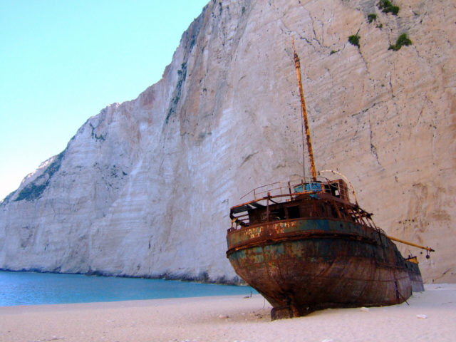 Shipwreck-at-navagio. Author: Ghost of Kuji CC BY 2.0
