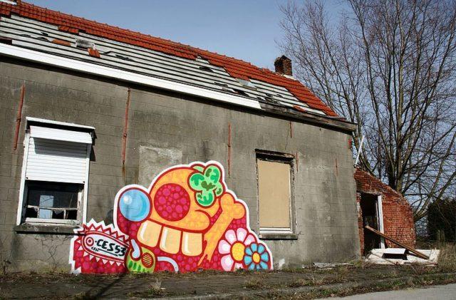 Street art by Ces53.