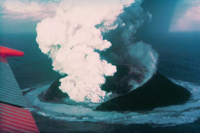 Surtsey, sixteen days after the onset of the eruption