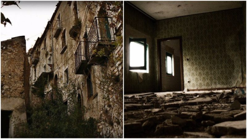 Left: In harmony with nature. Right: Inside one of the abandoned home. Both Photos:Alessandro Bonvini,CC BY 2.0