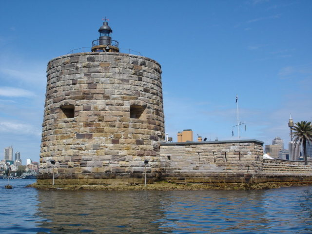 Fort Denison, Sydney Harbour. Author:Andy MitchellCC BY-SA 2.5