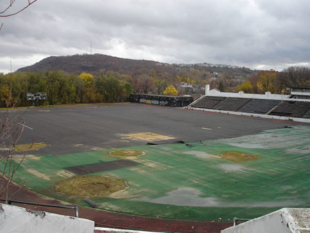 Hinchliffe Stadium, winter of 2009.