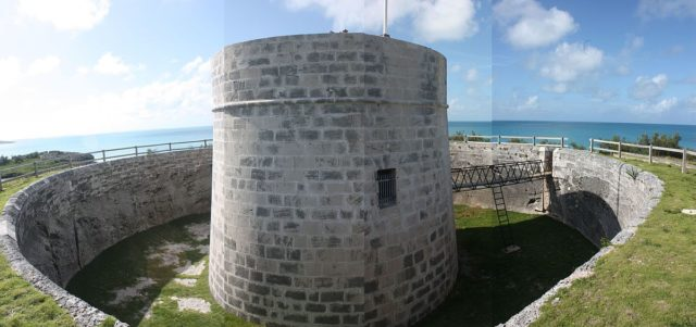 Montage of the Martello Tower at Ferry Reach, Bermuda. Author:AodhdubhCC BY-SA 3.0