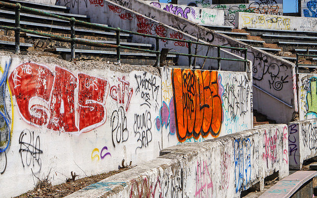 Hinchliffe Stadium Grafitti shoot/GAS – Author: PatersonGreatFalls -A Visual Reference for Teacher – CC by 2.0