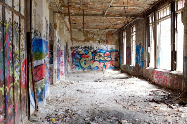 Inside one of the buildings.Author: Peter BurkaCC BY-SA 2.0