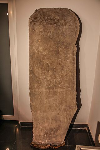 Tomb stela of basalt, with a bilingual inscription in Aramaic and Greek. Author:Tamar.kalkhitashviliCC BY 3.0