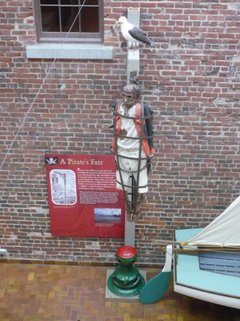 This is a replica of the pirate Edward Jordan executed in Halifax in 1829, gibbeted at Black Rock in Point Pleasant Park.Author:Ambernectar 13CC BY-ND 2.0