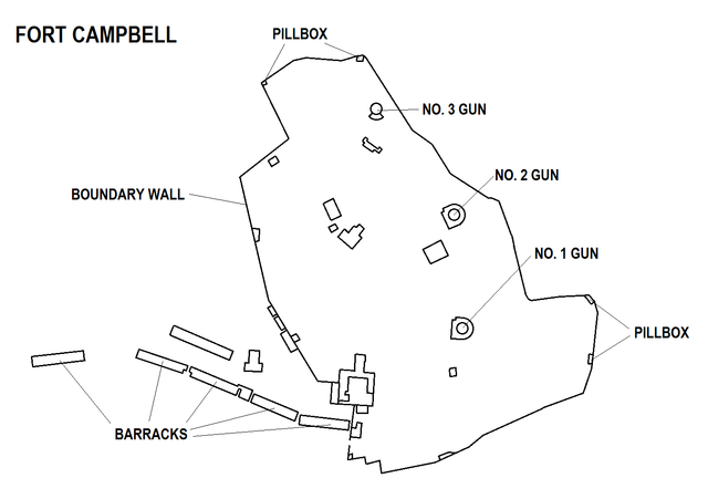 Map of Fort Campbell in Mellieħa, Malta.Author Xwejnusgozo CC BY-SA 3.0
