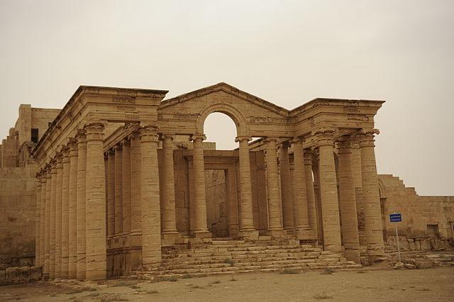 Temple ruins at Hatra.