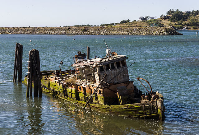 The derelict Mary D. Hume steamer/ Author: Acroterion – CC BY-SA 3.0