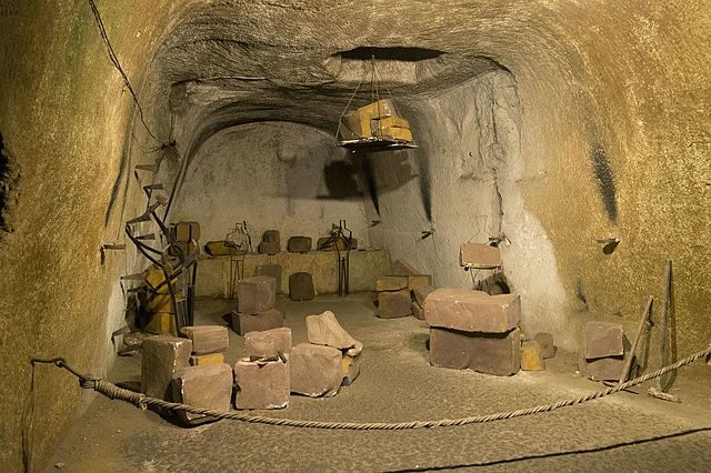 Reconstruction of an old tuff mine. Dominik Matus CC BY-SA 4.0
