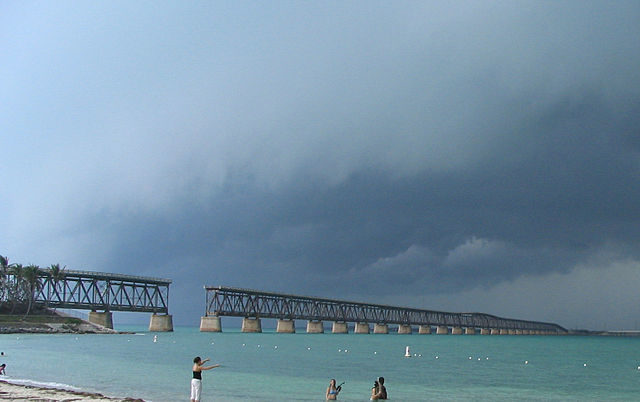 View of the Bahia Honda Bridge from Bahia Honda State Park. Author Mwanner CC BY-SA 3.0