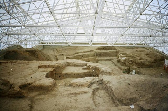 Excavations at the southern area of the site. Photo Credit