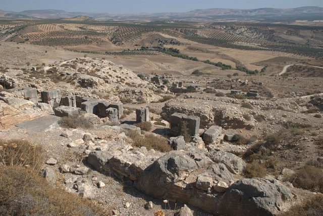 The northern part of Kyrrhos, Nebi Huri, Syria, towards the east. Photo Credit