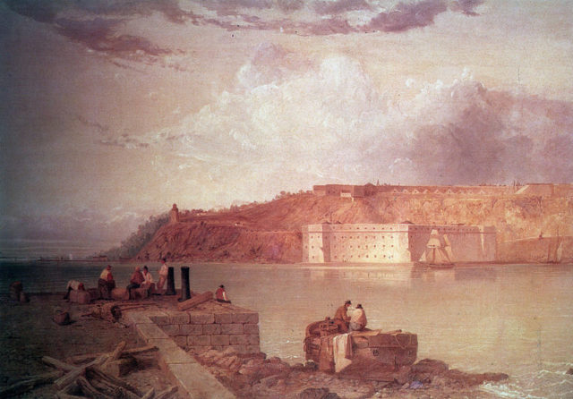A view of Fort Wadsworth 1870.